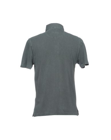Фото 2 - Мужское поло  свинцово-серого цвета