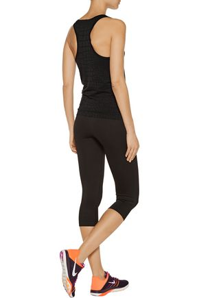 YUMMIE by HEATHER THOMSON® Daria croc-effect stretch-jacquard tank