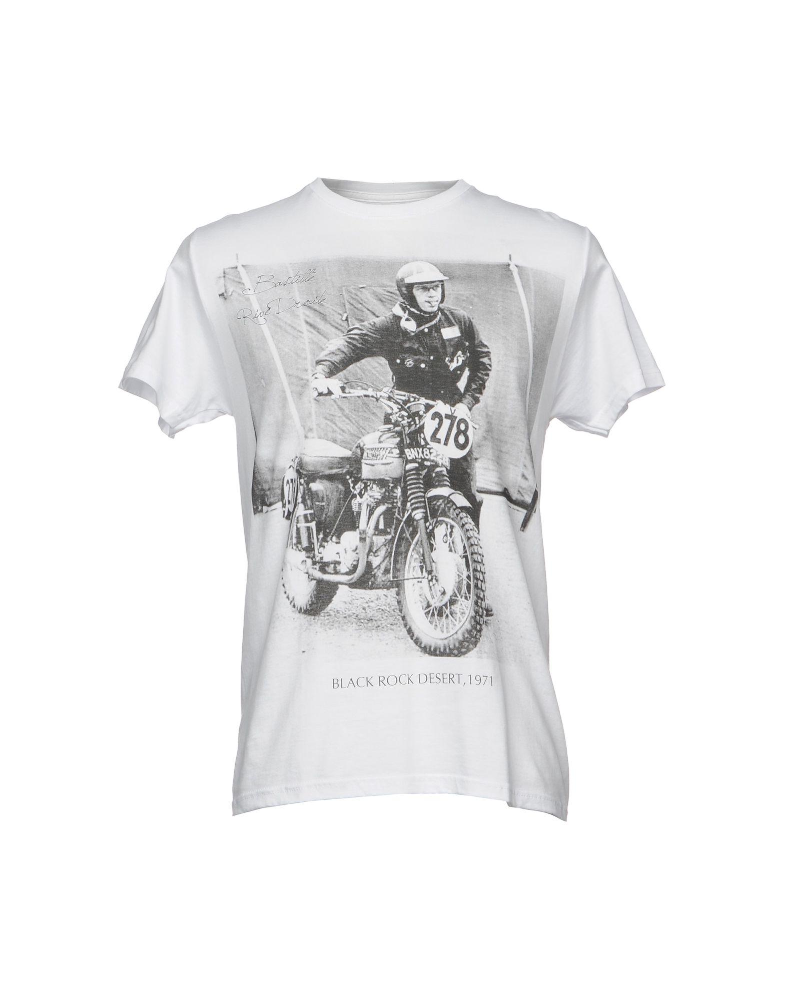《送料無料》BASTILLE メンズ T シャツ ホワイト XXL コットン 100%