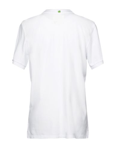Фото 2 - Мужское поло PROJECT E белого цвета