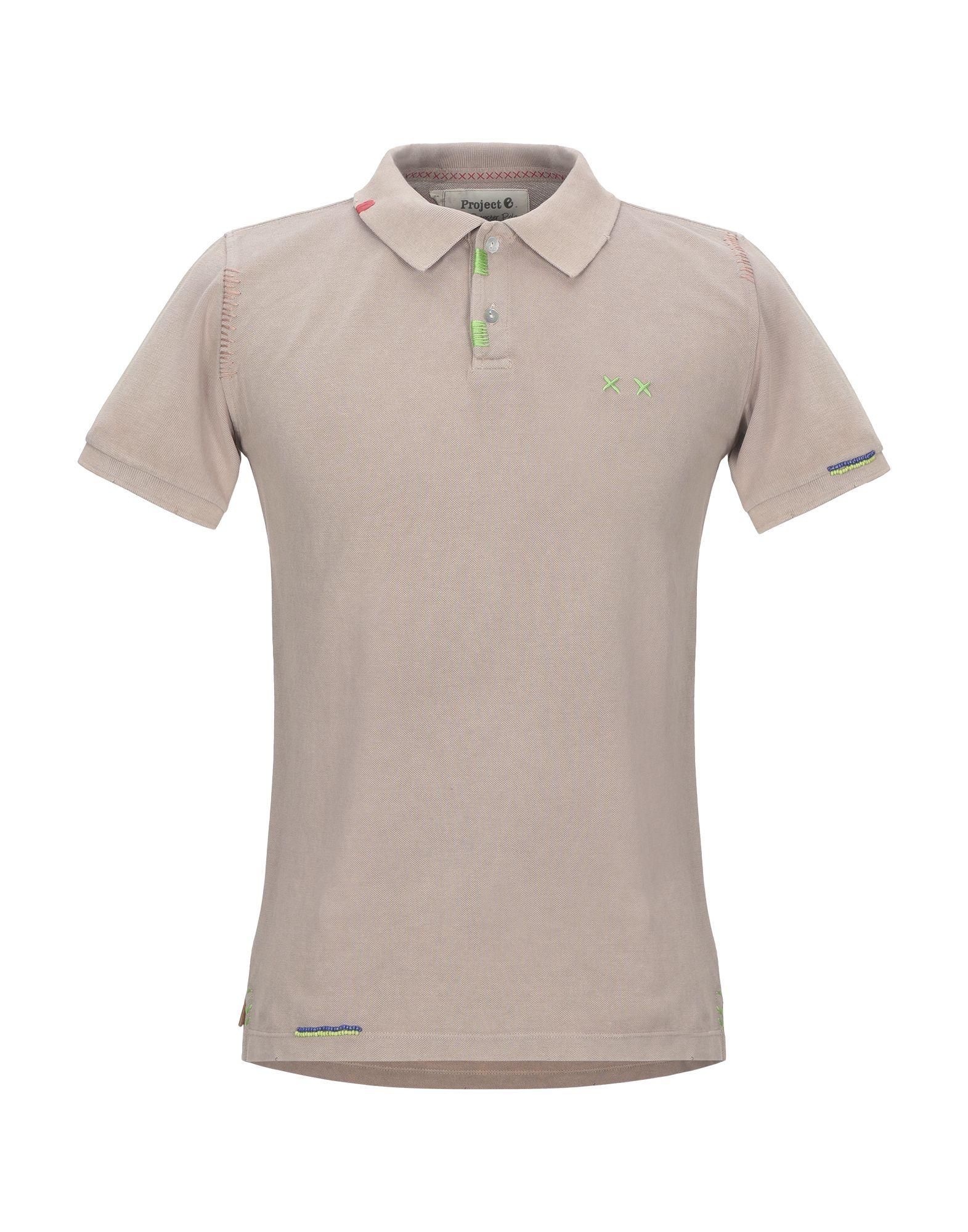 《セール開催中》PROJECT E メンズ ポロシャツ ライトブラウン XS コットン 100%