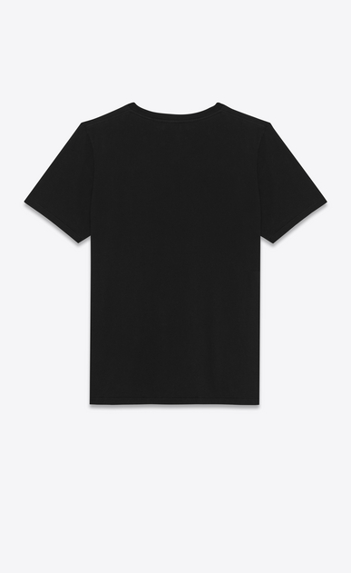 SAINT LAURENT T-Shirt and Jersey Man Saint laurent Square T-Shirt in black cotton jersey b_V4