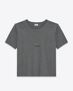 SAINT LAURENT T-Shirt and Jersey U Saint laurent Square T-Shirt in Heather Grey cotton jersey f