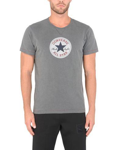 Фото 2 - Женскую футболку CONVERSE ALL STAR свинцово-серого цвета