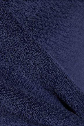 LISA MARIE FERNANDEZ Dree cotton-blend terry wrap top