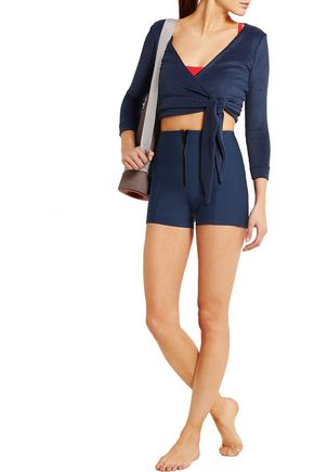 LISA MARIE FERNANDEZ Dree cotton-blend terry wrap top