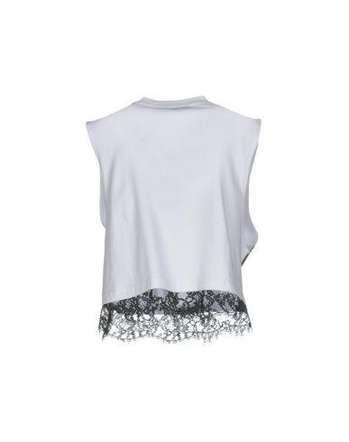 Фото 2 - Женскую футболку MSGM белого цвета