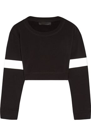 NORMA KAMALI Cropped stretch-cotton sweatshirt