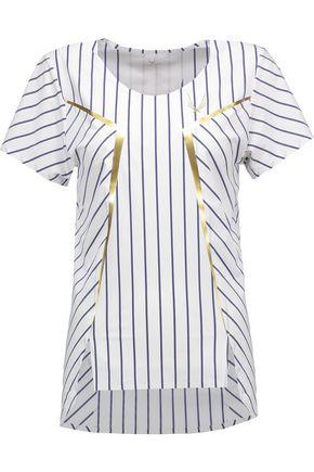 LUCAS HUGH Striped stretch T-shirt