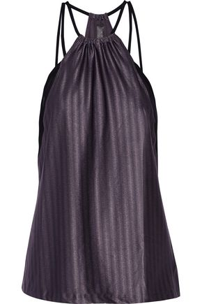 KORAL Revolution mesh-trimmed textured stretch-jersey tank