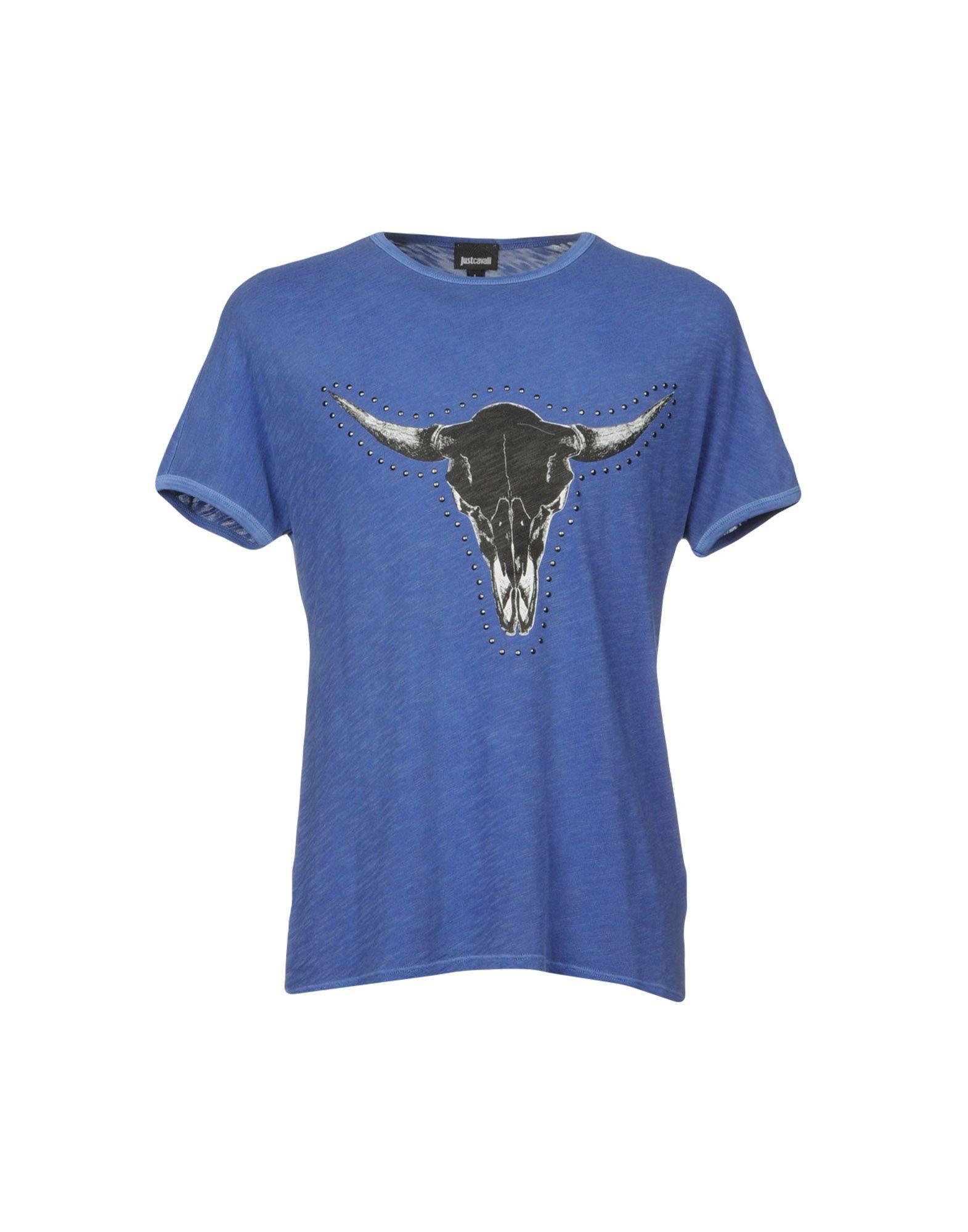 《セール開催中》JUST CAVALLI メンズ T シャツ ブルー XS コットン 100%