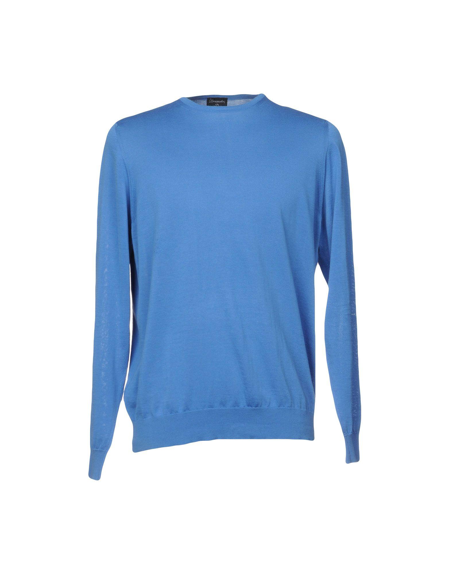 《送料無料》DRUMOHR メンズ T シャツ アジュールブルー XL コットン 100%