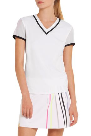 MONREAL LONDON Net Gains stretch-jersey and mesh T-shirt