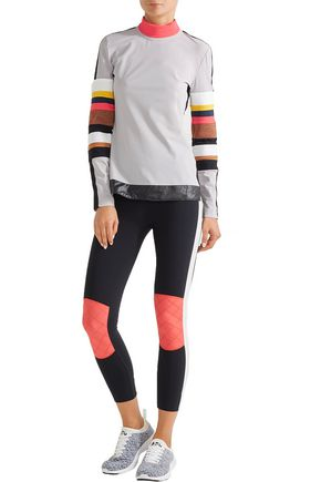 NO KA 'OI Naka paneled stretch-jersey turtleneck top