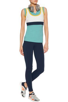NO KA 'OI Mala layered color-block stretch-jersey top