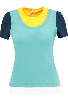 NO KA 'OI Nana layered color-block stretch-jersey top