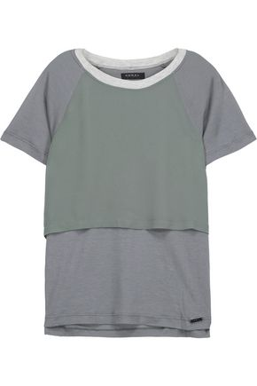 KORAL Clarion layered chiffon and stretch-jersey T-shirt