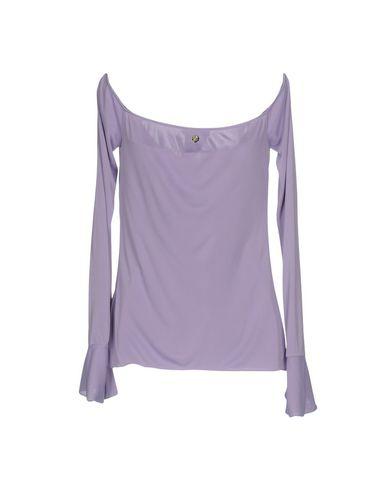 VERSACE COLLECTION Damen T-shirts Lila Größe 34 100% Viskose