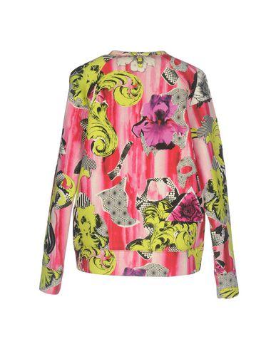 VERSACE COLLECTION Damen Sweatshirt Fuchsia Größe S 94% Viskose 6% Elastan