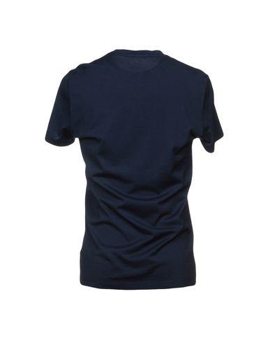 Фото 2 - Женскую футболку LOW BRAND темно-синего цвета