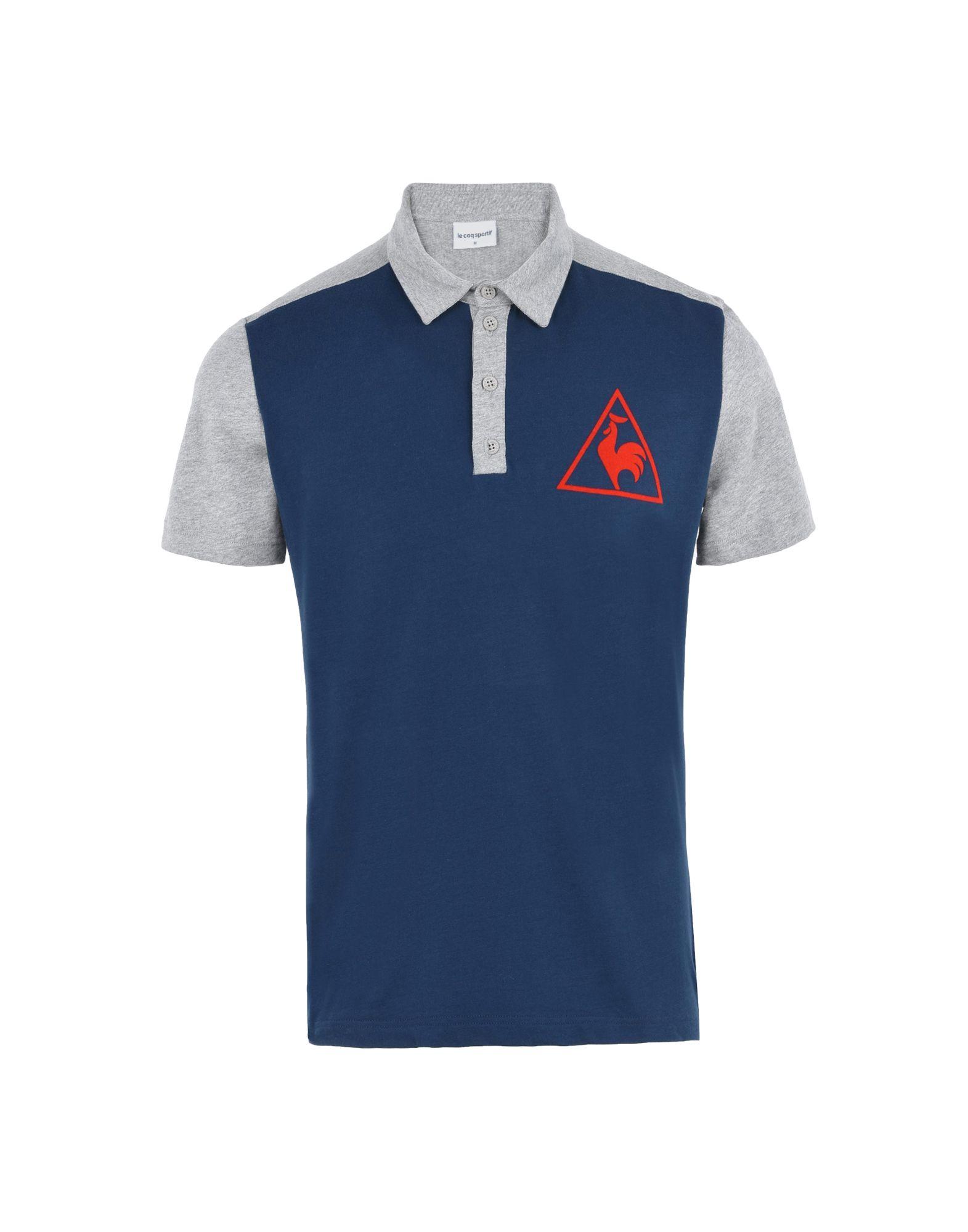 《セール開催中》LE COQ SPORTIF メンズ ポロシャツ ダークブルー S コットン 100% TRI LF TENNIS POLO SS M