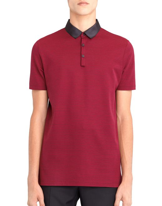 STRIPPED MERCERIZED POLO SHIRT - Lanvin