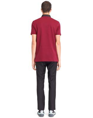 LANVIN STRIPPED MERCERIZED POLO SHIRT Polos & T-Shirts U d