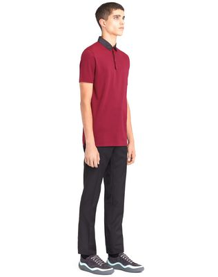LANVIN STRIPPED MERCERIZED POLO SHIRT Polos & T-Shirts U e