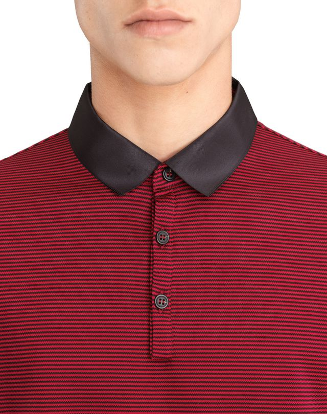 LANVIN STRIPPED MERCERIZED POLO SHIRT Polos & T-Shirts U a