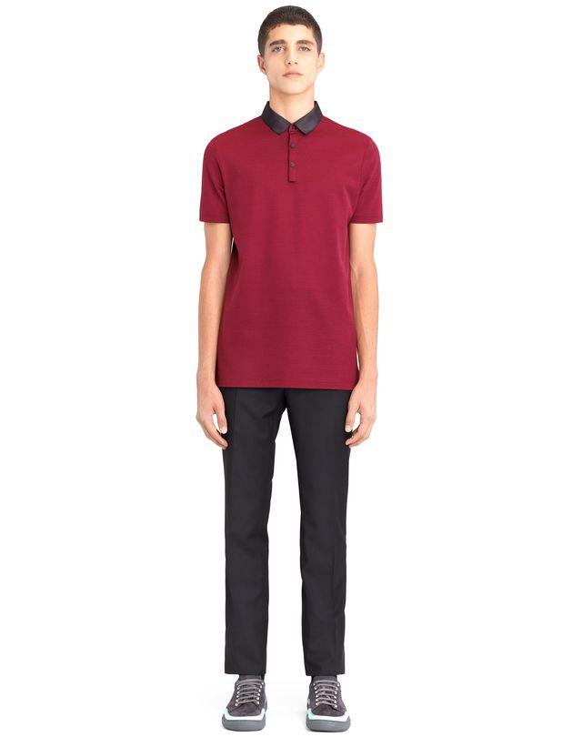 LANVIN STRIPPED MERCERIZED POLO SHIRT Polos & T-Shirts U r