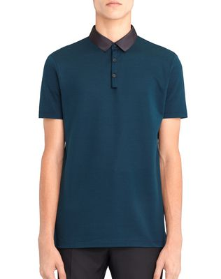 LANVIN STRIPPED MERCERIZED POLO SHIRT Polos & T-Shirts U f