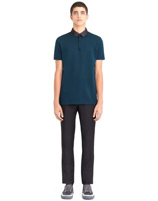 LANVIN STRIPPED MERCERIZED POLO SHIRT Polos & T-Shirts U r
