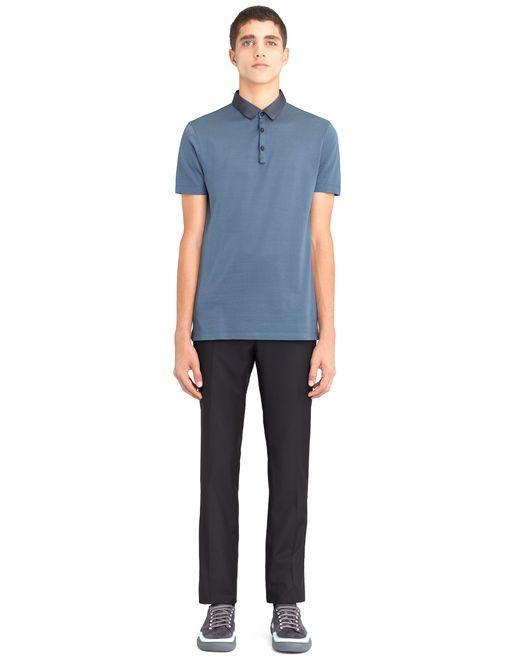 lanvin slim-fit piqué polo shirt men