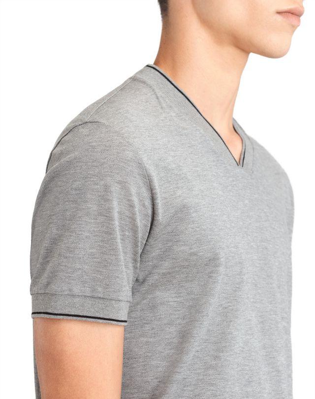 LANVIN V-NECK MERCERIZED POLO SHIRT Polos & T-Shirts U b