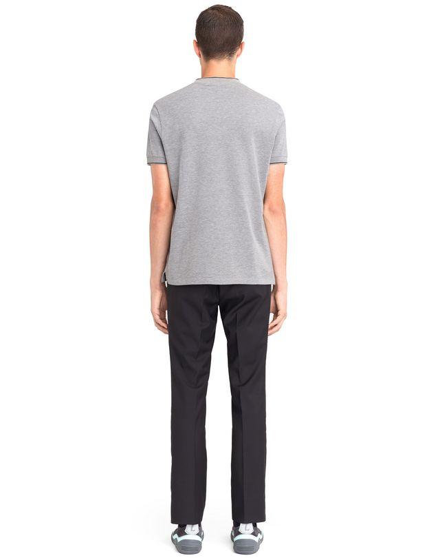 LANVIN V-NECK MERCERIZED POLO SHIRT Polos & T-Shirts U d