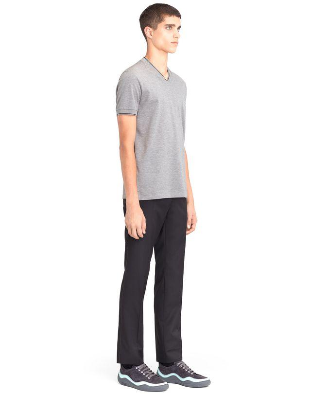 LANVIN V-NECK MERCERIZED POLO SHIRT Polos & T-Shirts U e