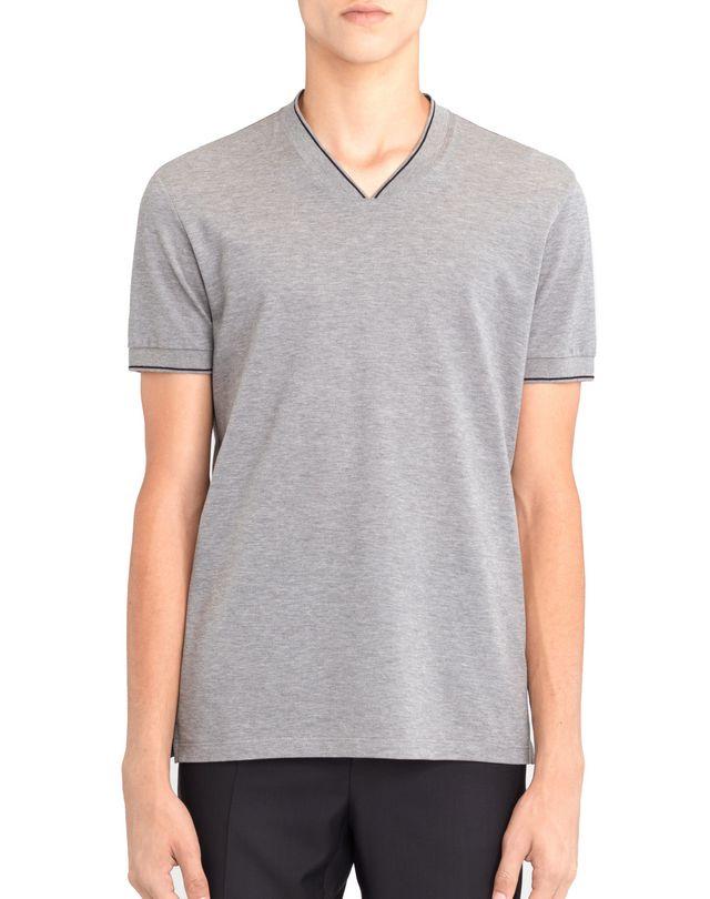 LANVIN V-NECK MERCERIZED POLO SHIRT Polos & T-Shirts U f