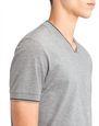 LANVIN Polos & T-Shirts Man V-NECK MERCERIZED POLO SHIRT f