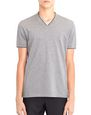 LANVIN Polos & T-Shirts Man V-NECK MERCERIZED POLO SHIRT f
