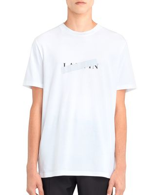 "LANVIN Polos & T-Shirts U ORANGE ""DINO"" EMBROIDERED T-SHIRT F"