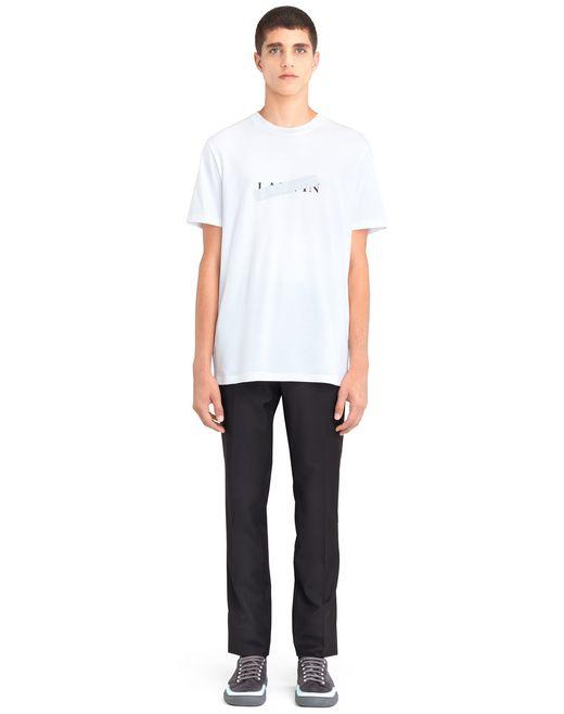 "lanvin white ""lanvin"" t-shirt men"