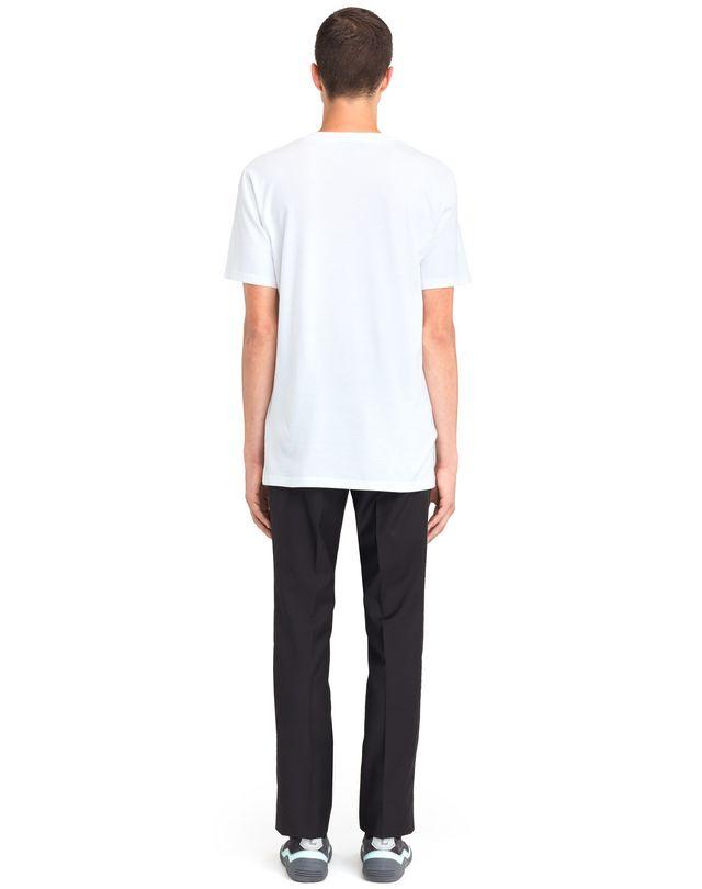 "LANVIN WHITE ""LANVIN"" T-SHIRT Polos & T-Shirts U d"