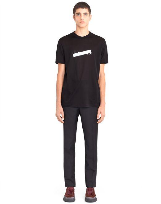 "lanvin black ""lanvin"" t-shirt men"