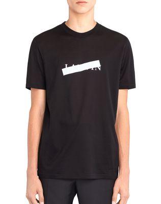 "LANVIN BLACK ""LANVIN"" T-SHIRT Polos & T-Shirts U f"