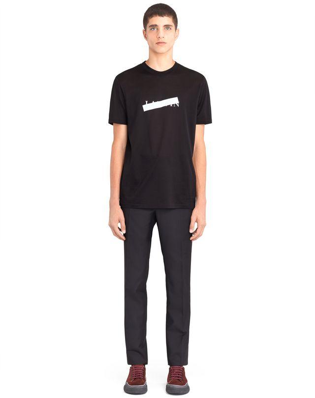 "LANVIN BLACK ""LANVIN"" T-SHIRT Polos & T-Shirts U r"