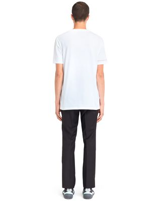 "LANVIN WHITE ""DINO"" EMBROIDERED T-SHIRT Polos & T-Shirts U d"