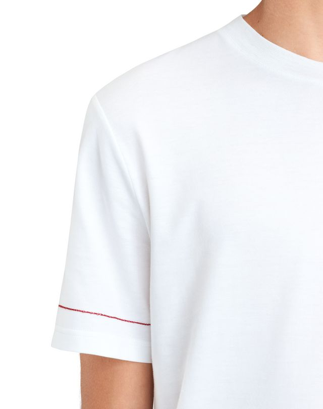 "LANVIN WHITE ""DINO"" EMBROIDERED T-SHIRT Polos & T-Shirts U b"