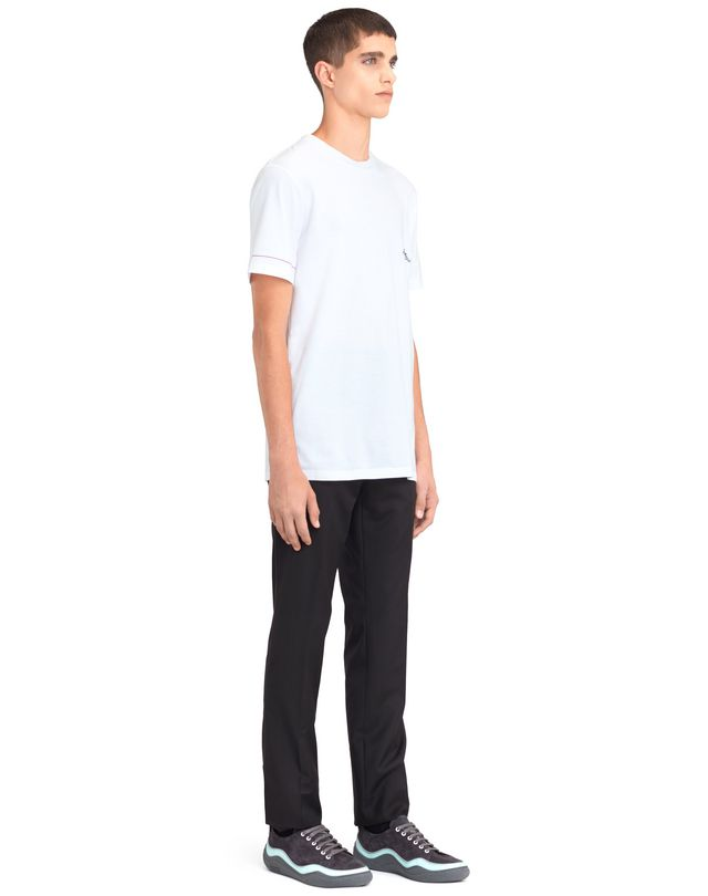 "LANVIN WHITE ""DINO"" EMBROIDERED T-SHIRT Polos & T-Shirts U e"