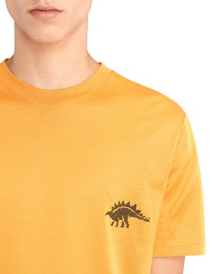 "LANVIN ORANGE ""DINO"" EMBROIDERED T-SHIRT Polos & T-Shirts U a"