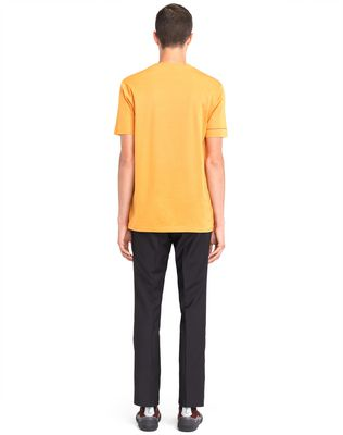 "LANVIN ORANGE ""DINO"" EMBROIDERED T-SHIRT Polos & T-Shirts U d"